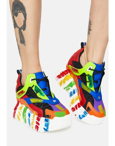 Rainbow Damson Sneaker