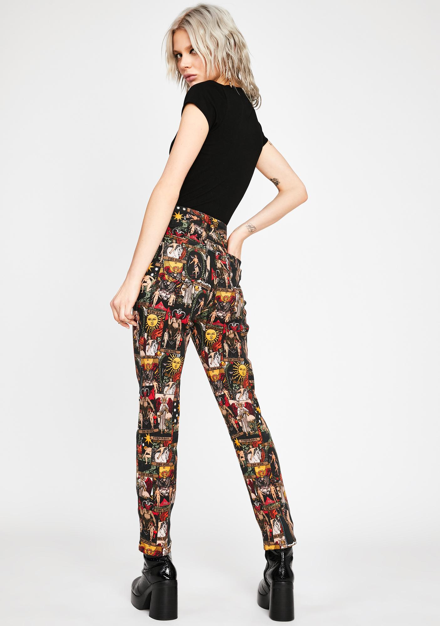 HOROSCOPEZ Divine Insight Mom Jeans
