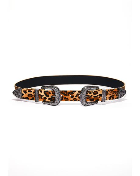 Double Dare Ya Leopard Belt