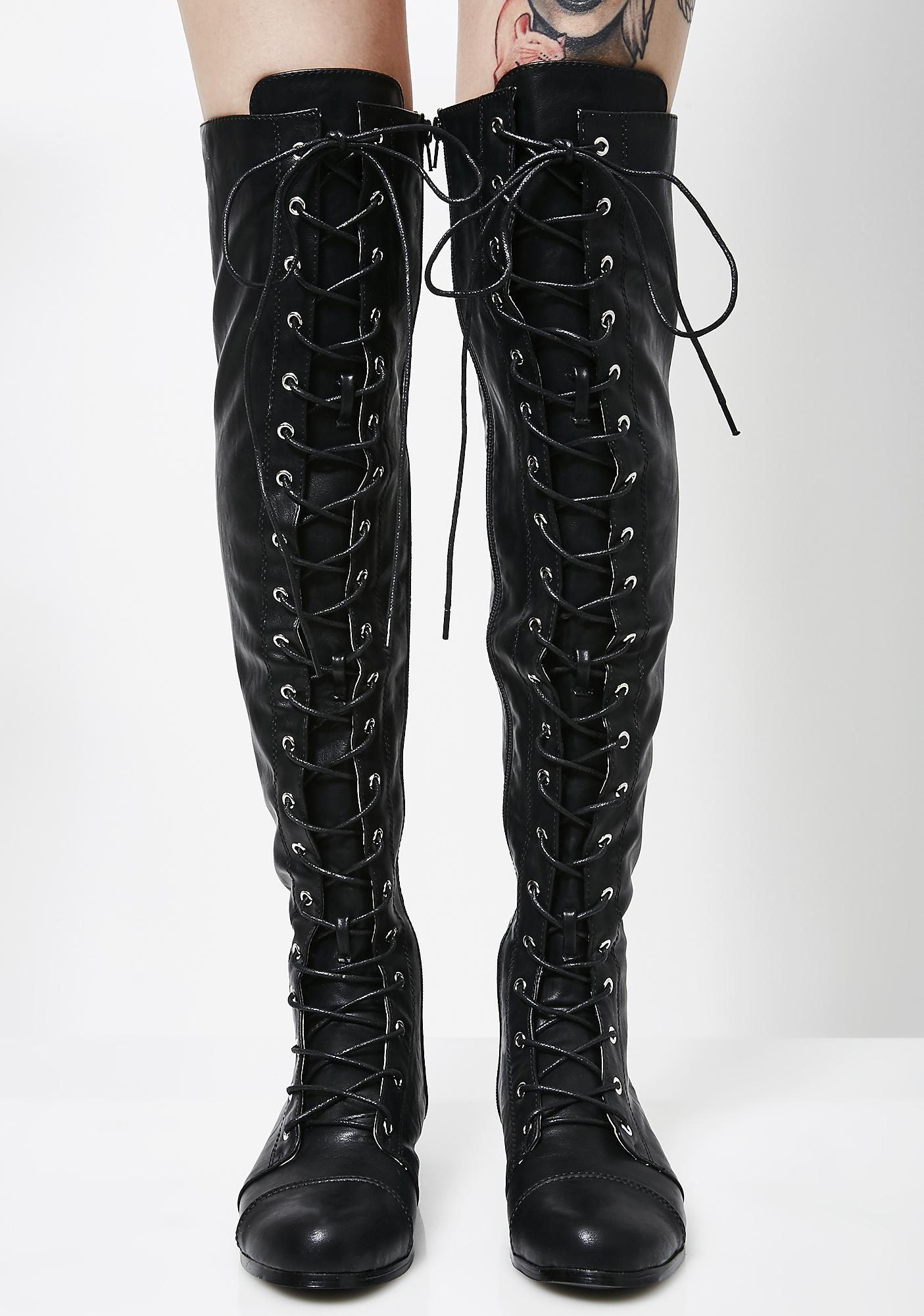 Take Action Lace-Up Boots