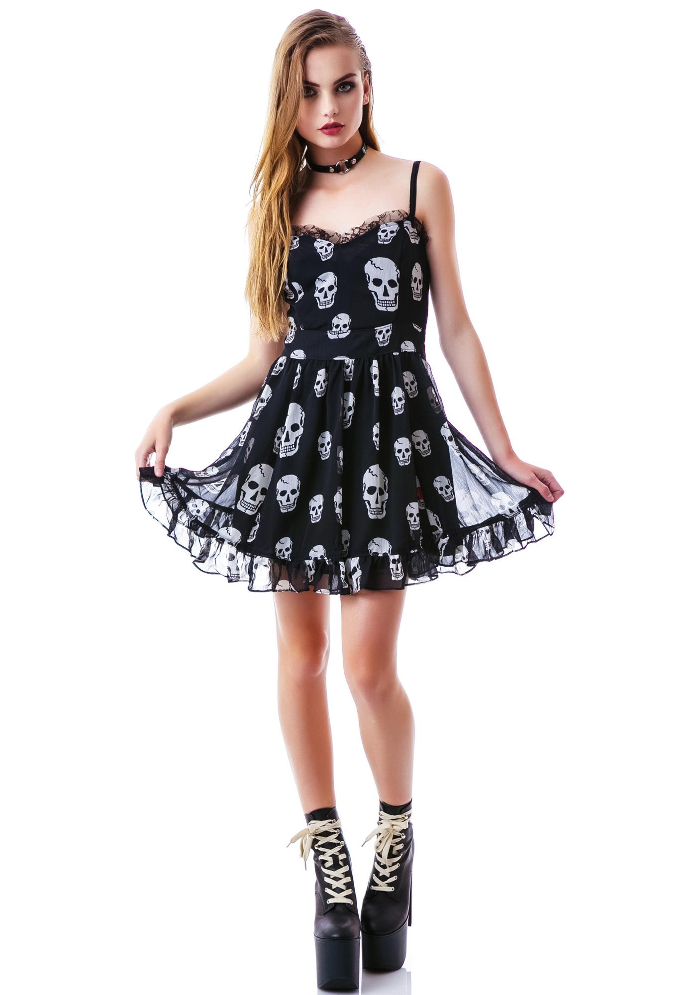 Tripp NYC Destroy Skull Ruffle Dress