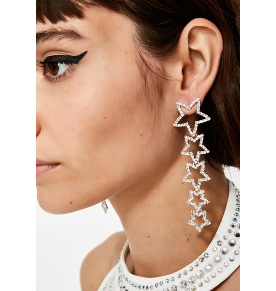 Star Alignment Rhinestone Earrings