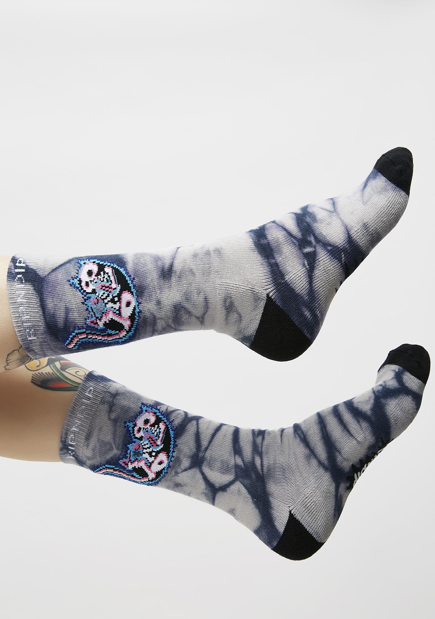 RIPNDIP Falling Electrocuted Socks