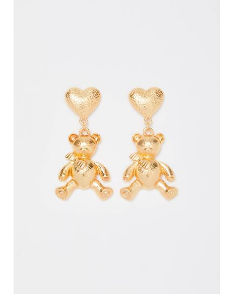 Honey Bear Drop Earrings