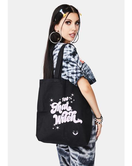 100 Percent That Witch Tote Bag