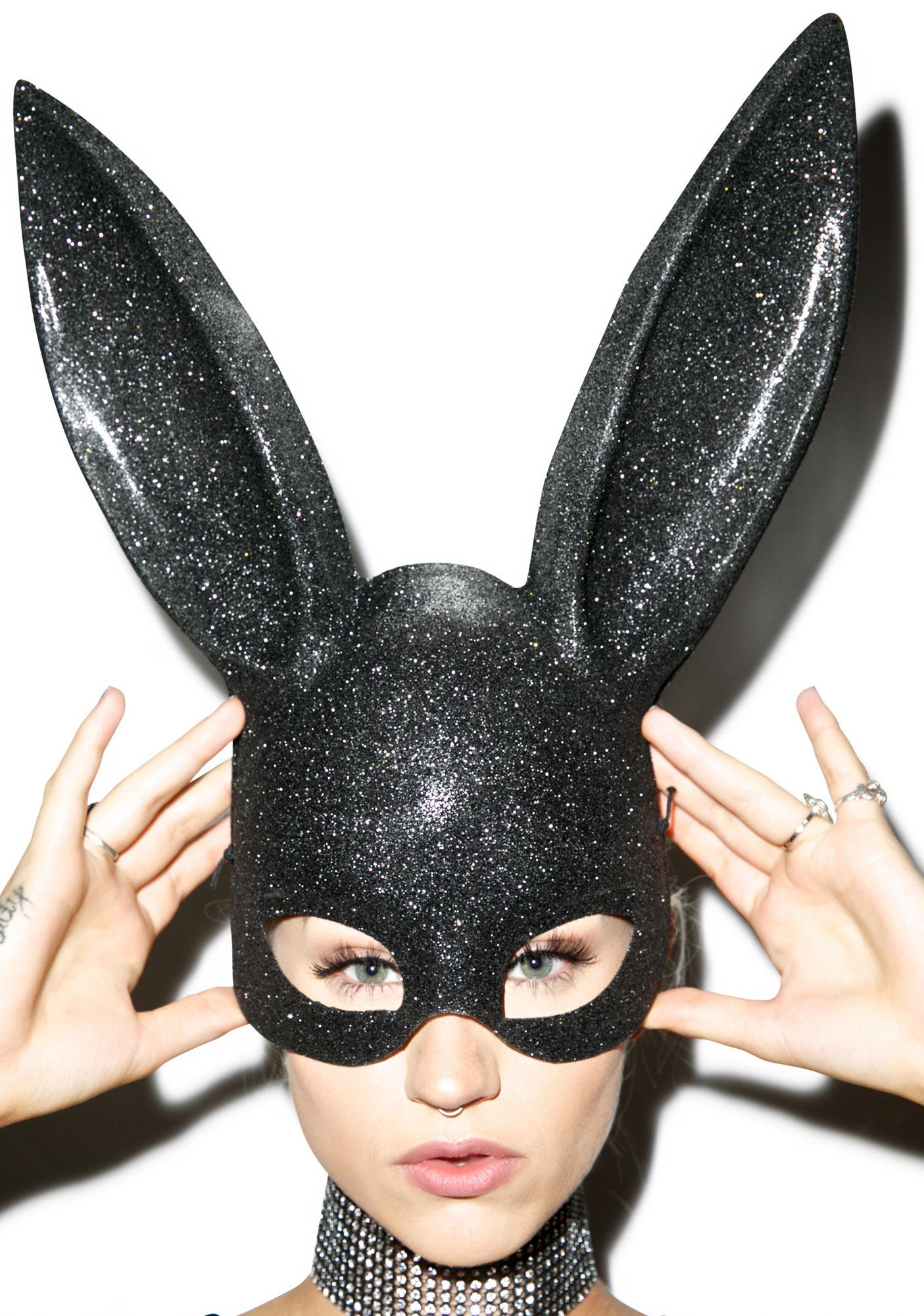 black glitter bunny mask dolls kill