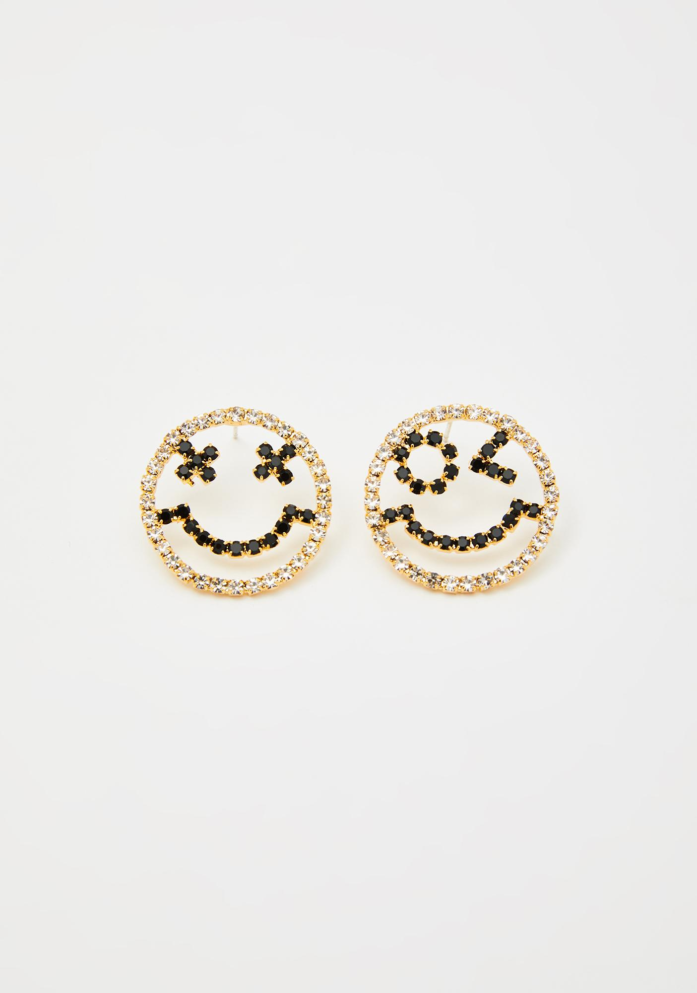 Manic Maniac Smiley Earrings