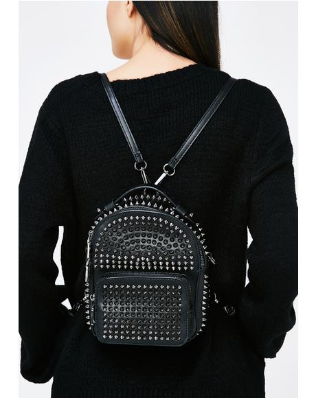 Biker BB Studded Backpack
