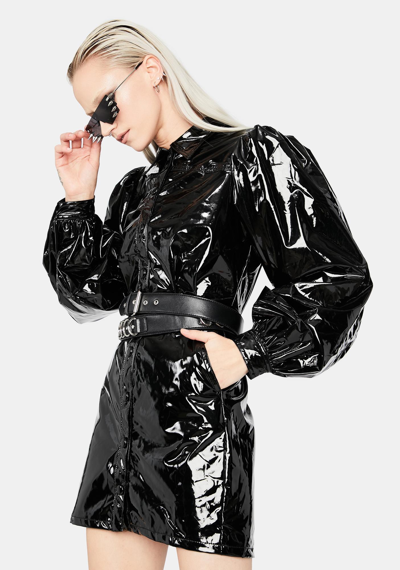 Monster U Made Vinyl Mini Dress
