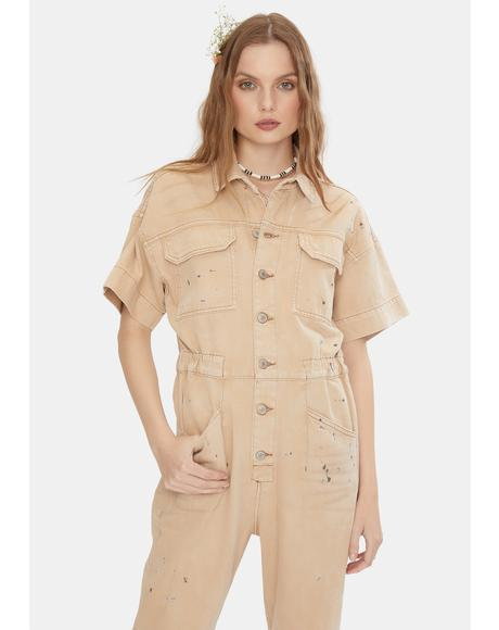 Dirty Ecru Marci Jumpsuit