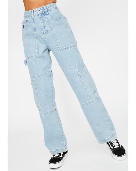Blue Combat Jeans