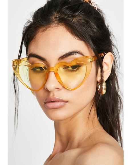 Lemon Un-Break Ur Heart Sunglasses