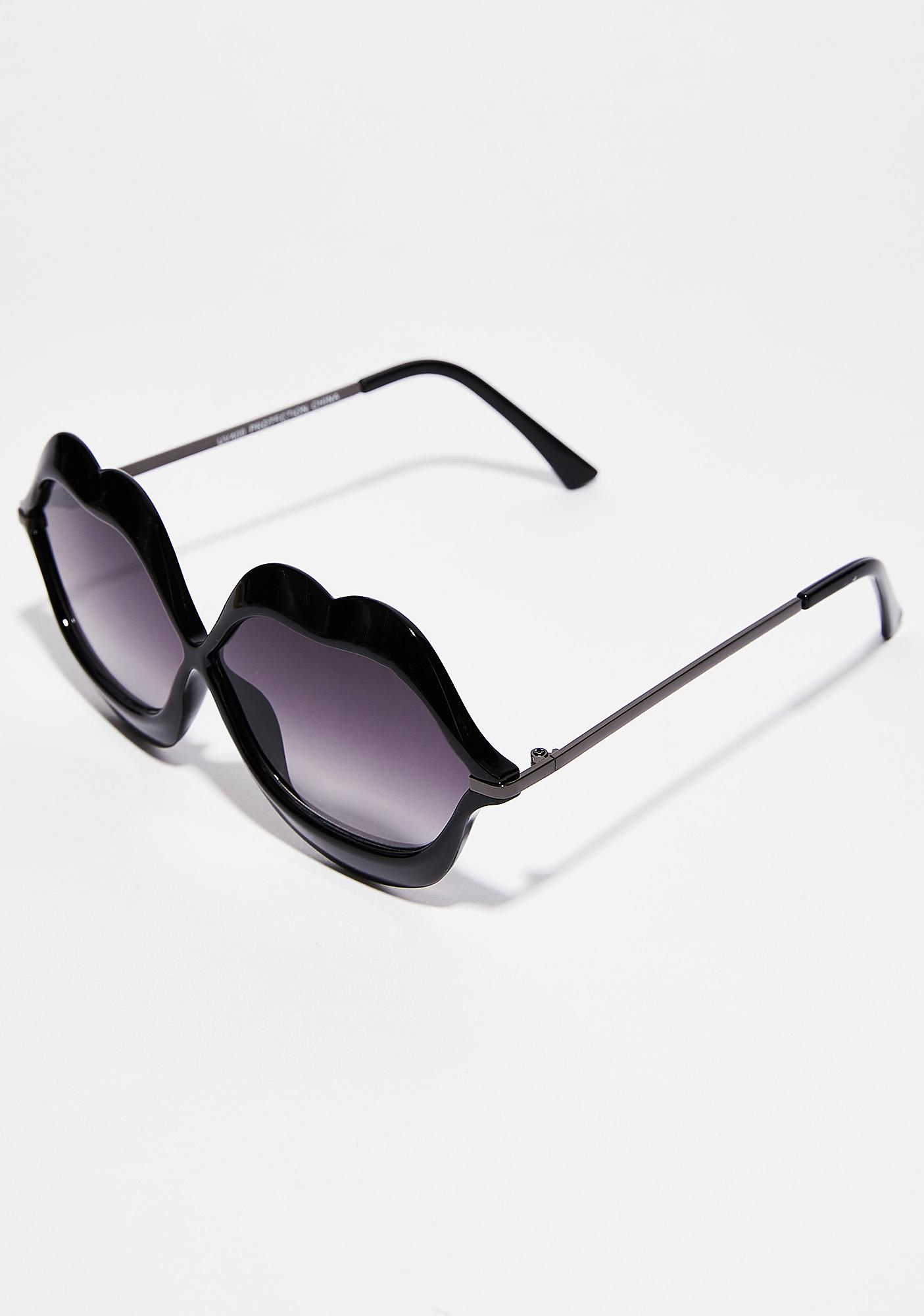Dark Read My Lips Sunglasses