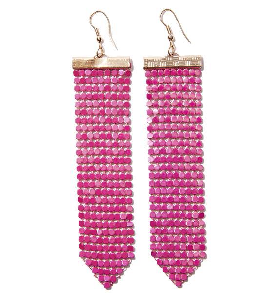 Pink Lights Earrings