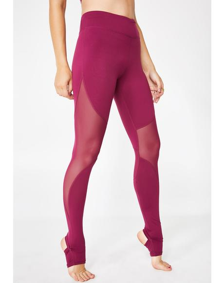What Waistline Mesh Leggings
