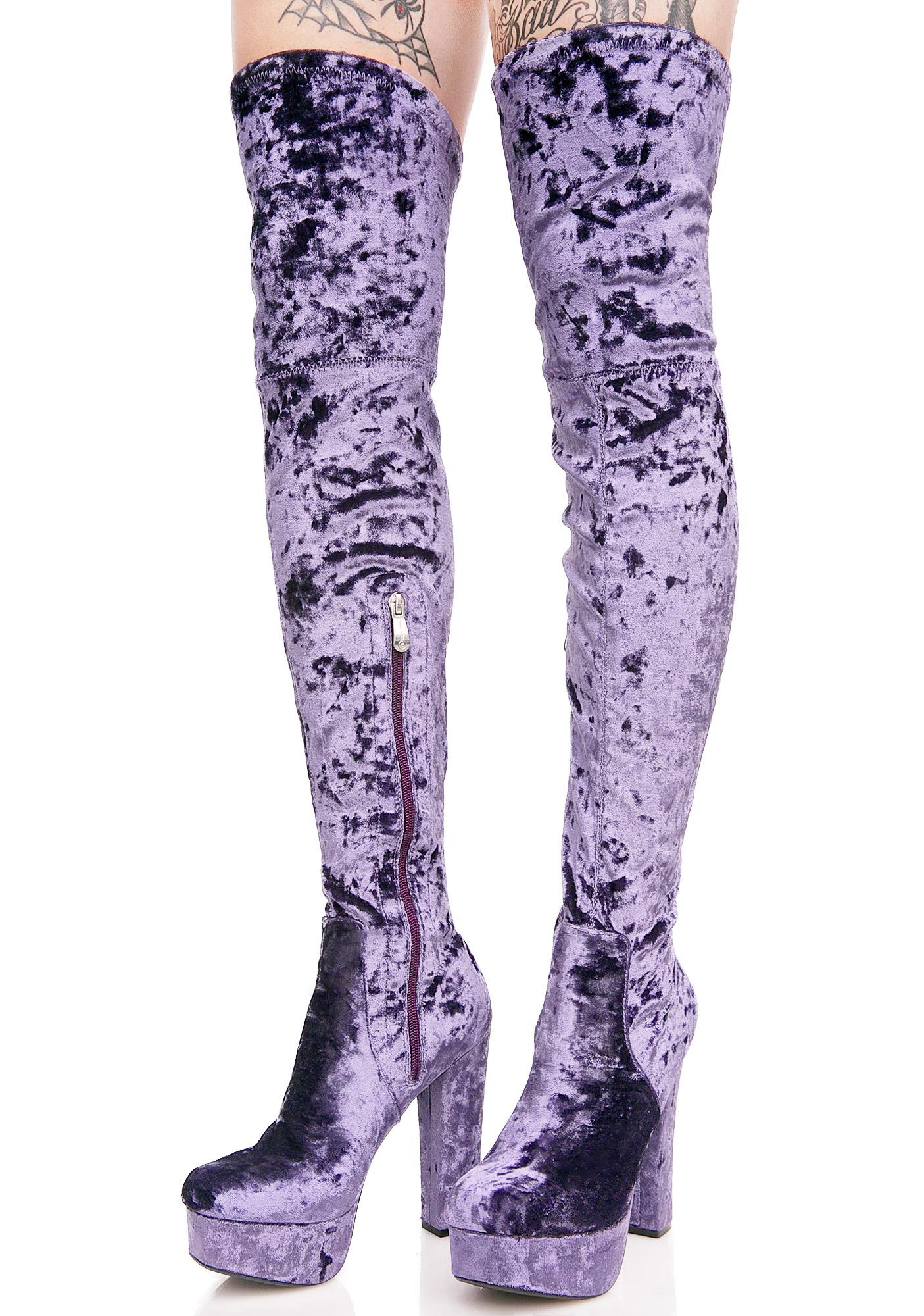 Hazy Elle Thigh-High Boots