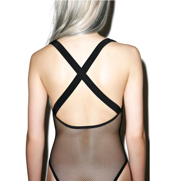 Lip Service Fishnet Bodysuit
