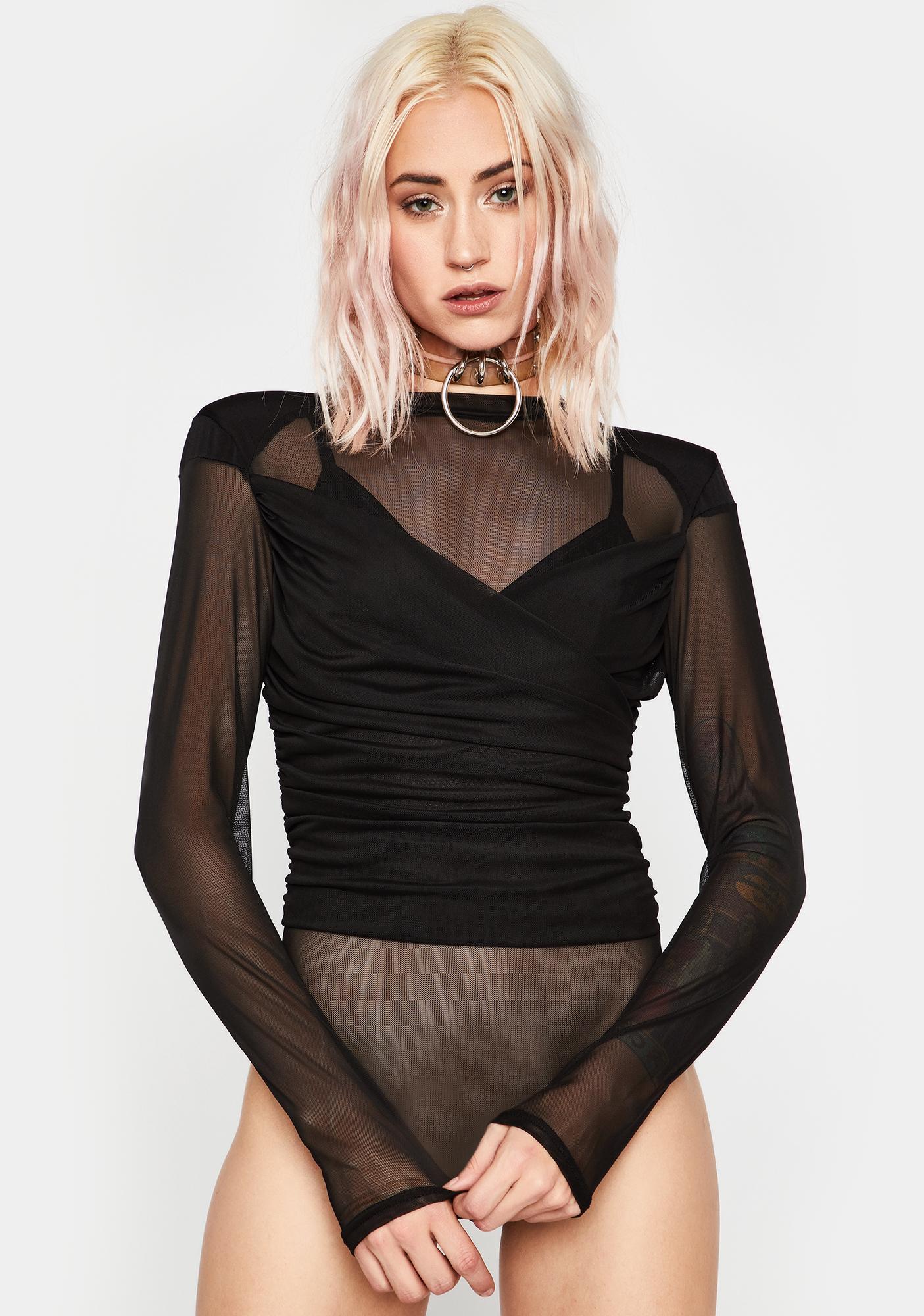 No Competition Mesh Bodysuit