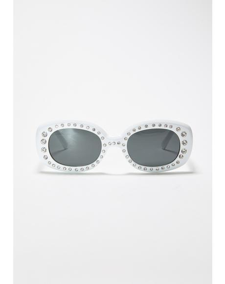 High Class Attitude Rhinestone Sunglasses