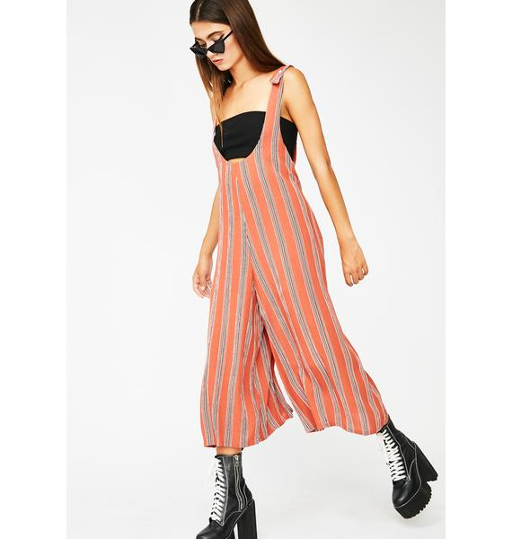 Back At It Striped Jumpsuit