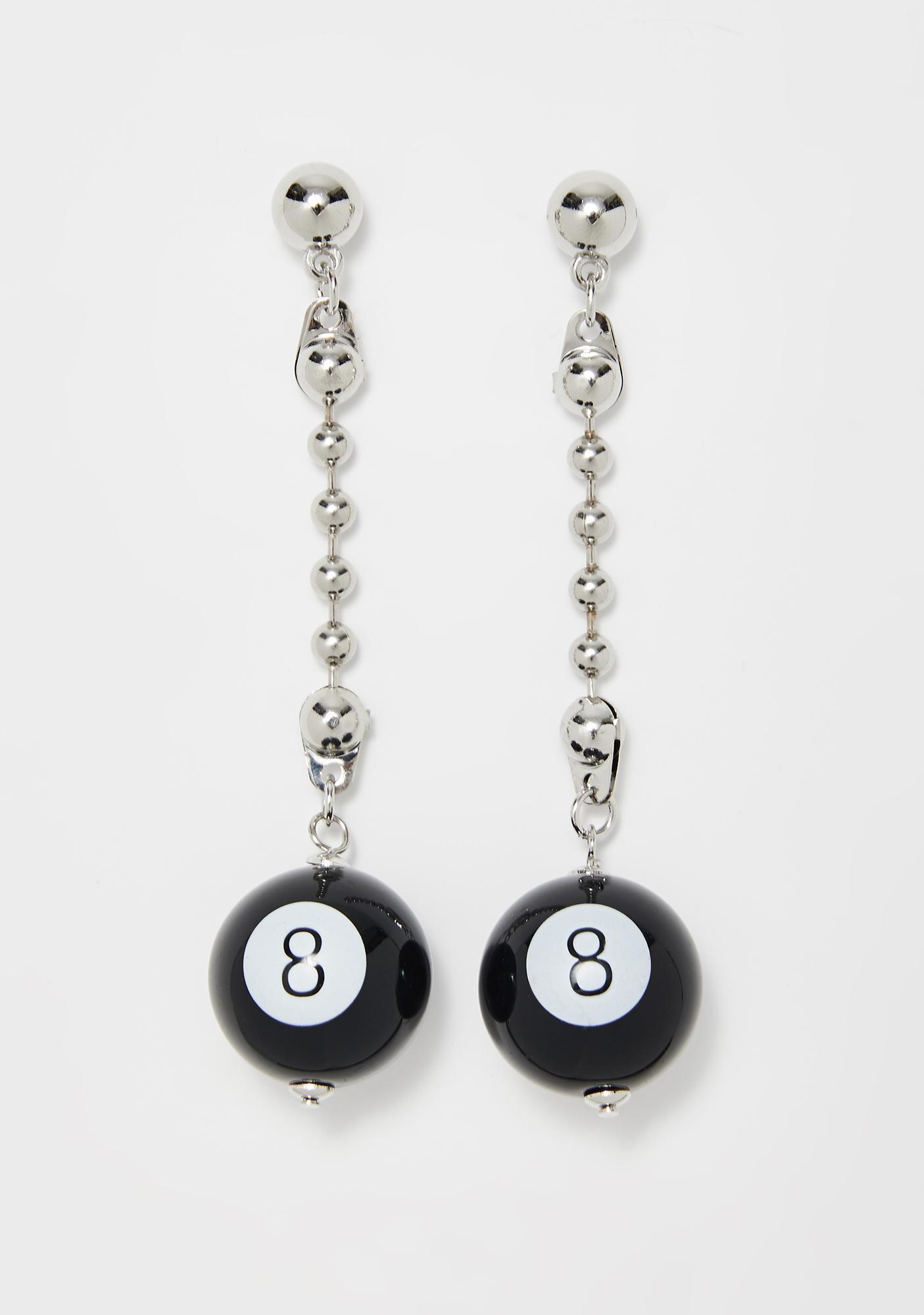 Table Play 8 Ball Earrings