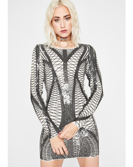 Hop The Fence Sequin Dress
