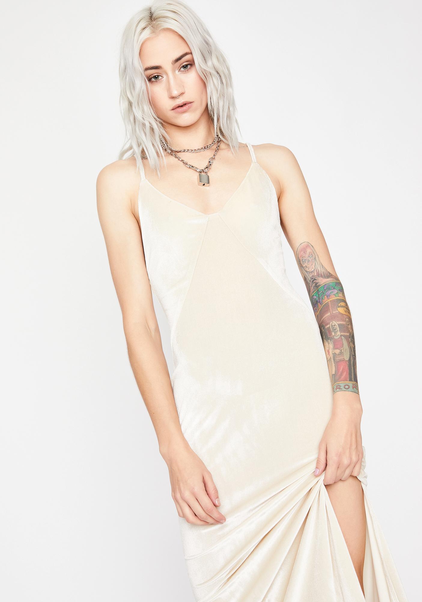 Cream Anonymous Crush Maxi Dress