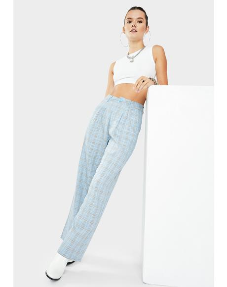 Euro Plaid Pants