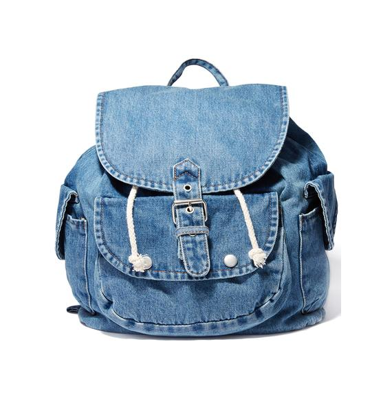 Mallrat Denim Backpack