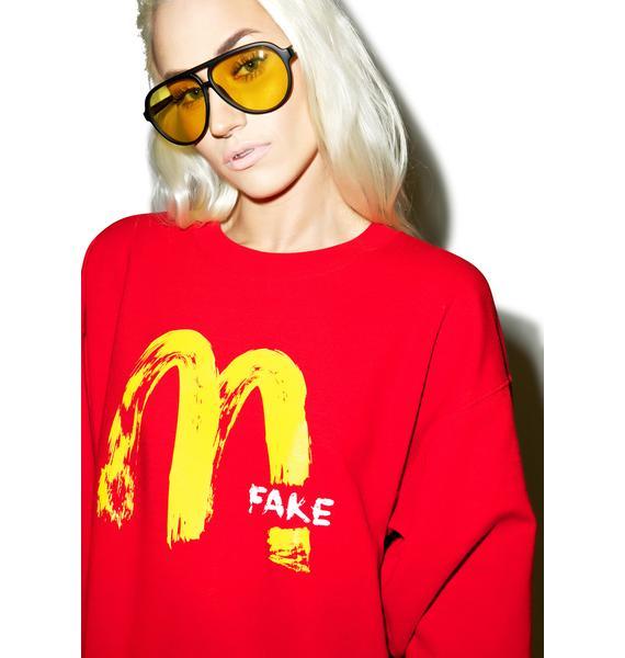 Petals and Peacocks Fake MCD Sweatshirt
