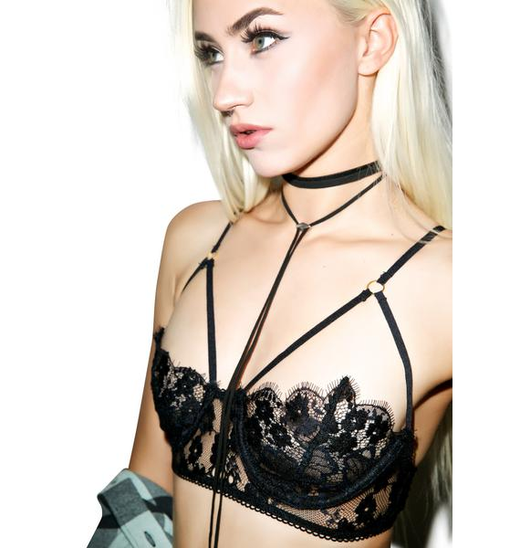 For Love & Lemons Honeysuckle Bondage Bra