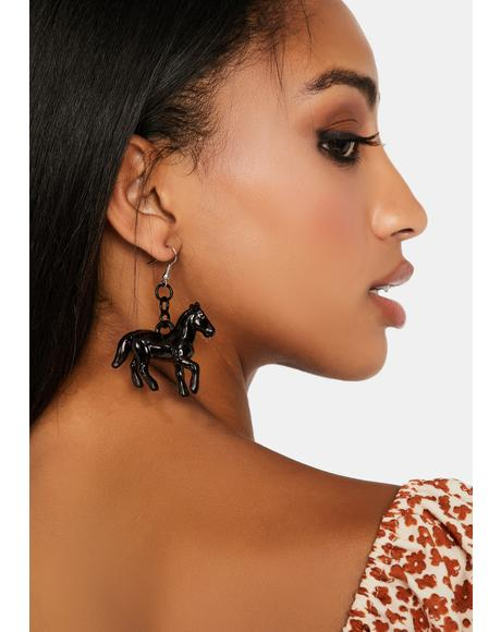 Amazing Race Horse Earrings