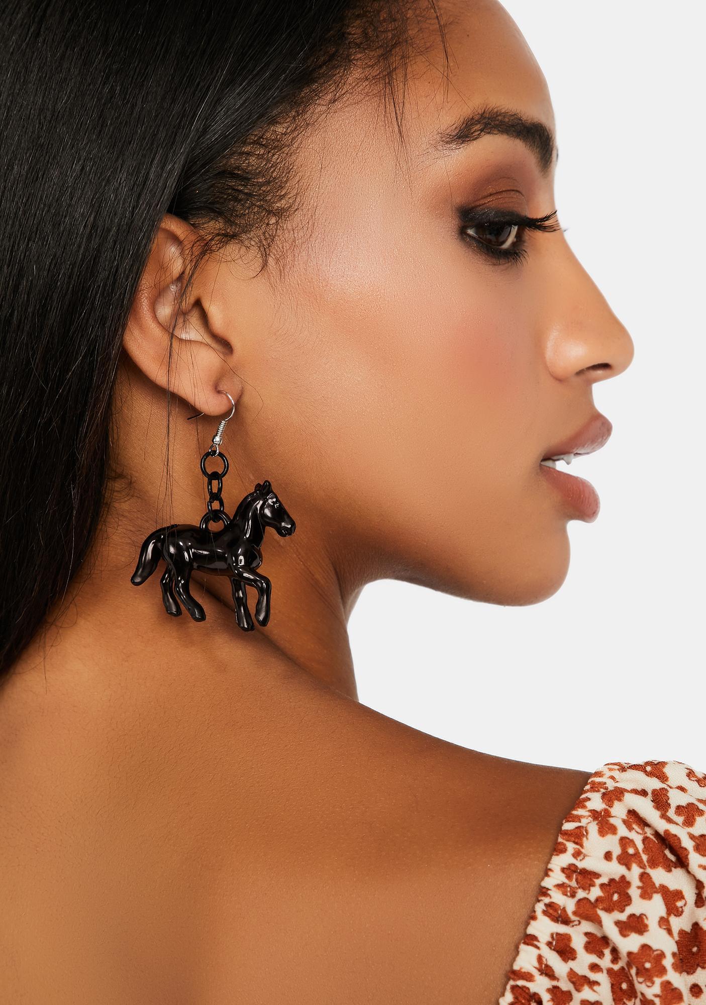 Amazing Race Horse Earrings