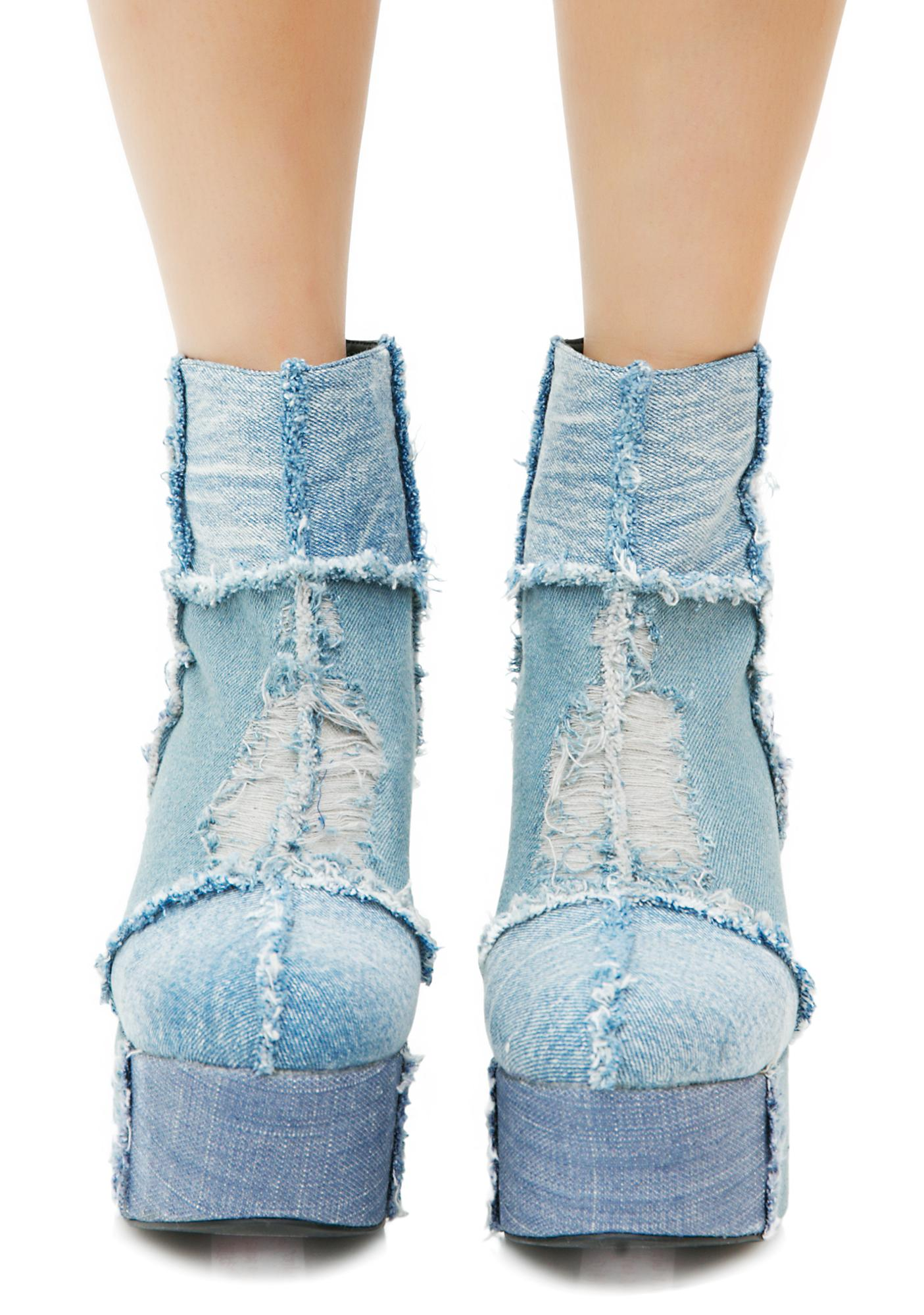 Current Mood Rad Doll Denim Boots