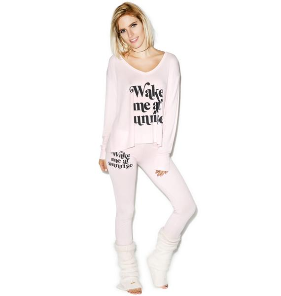 Wildfox Couture Wake Me At Sunrise Beach Camping Pajama Set