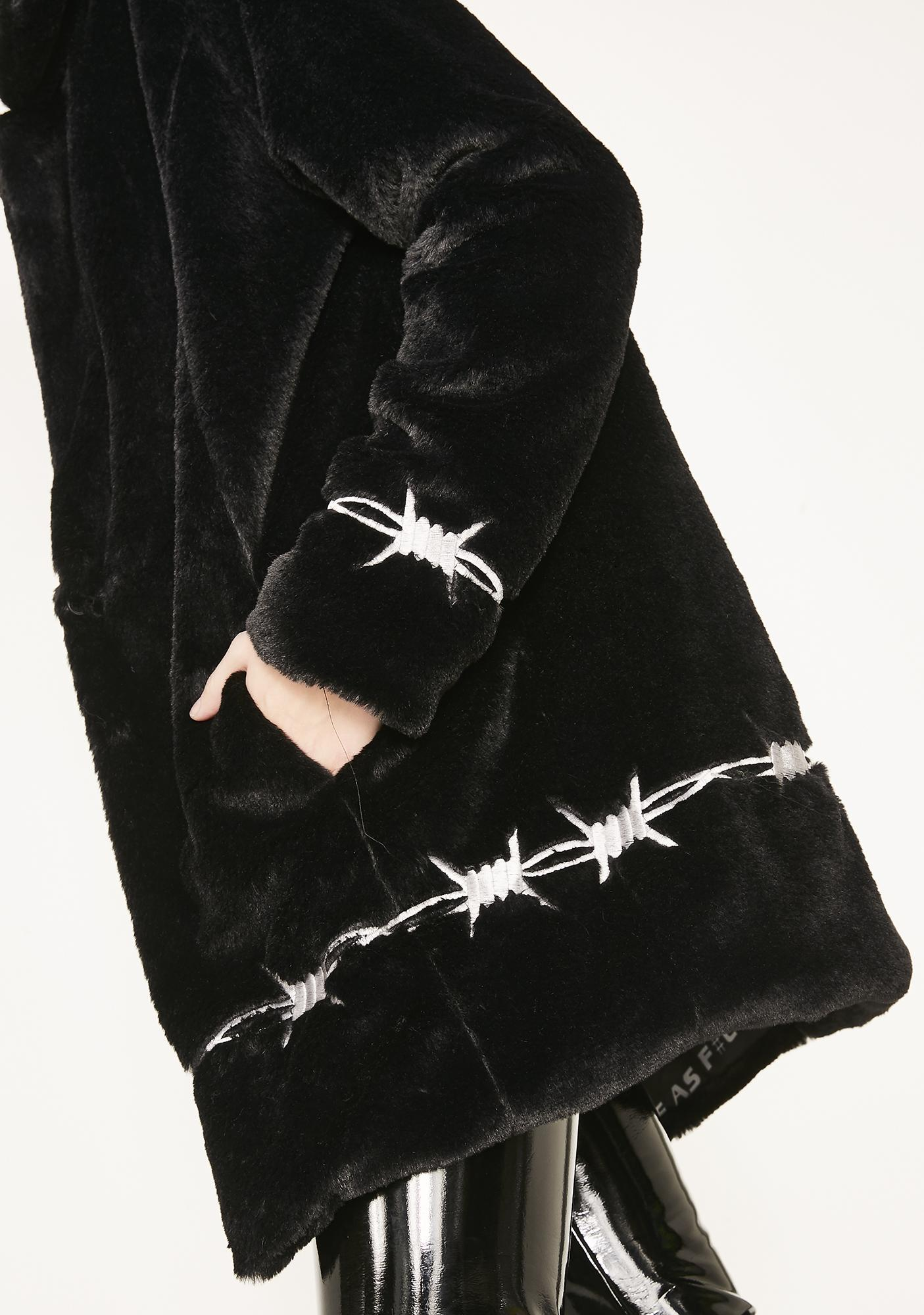Current Mood Dangerously Wired Faux Fur Jacket