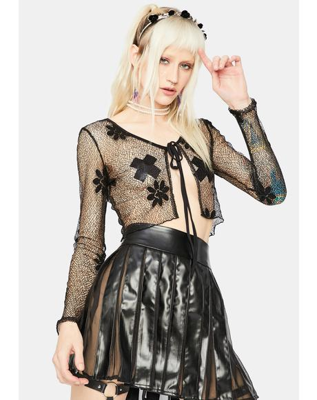 Fairy Fixation Sheer Crop Top