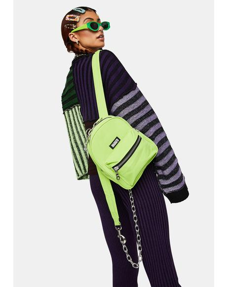Lime Modest Mini Backpack