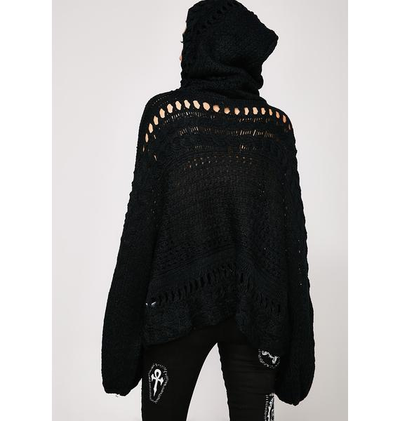 Back To Black Hooded Sweater