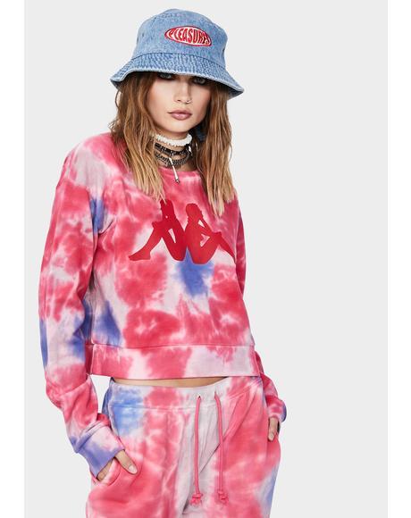 Pink Authentic Galz Tie Dye Sweatshirt