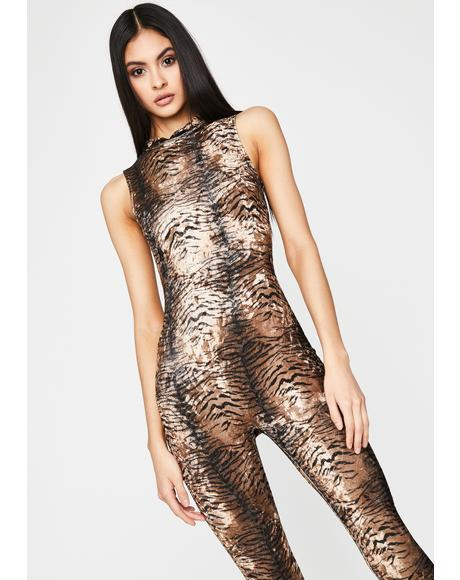 Pawsitive Catitude Print Catsuit