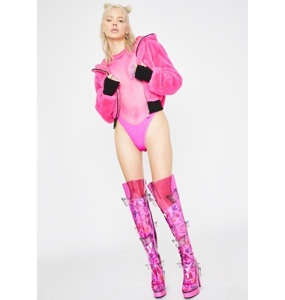 Club Exx Mystic Climax Fishnet Bodysuit