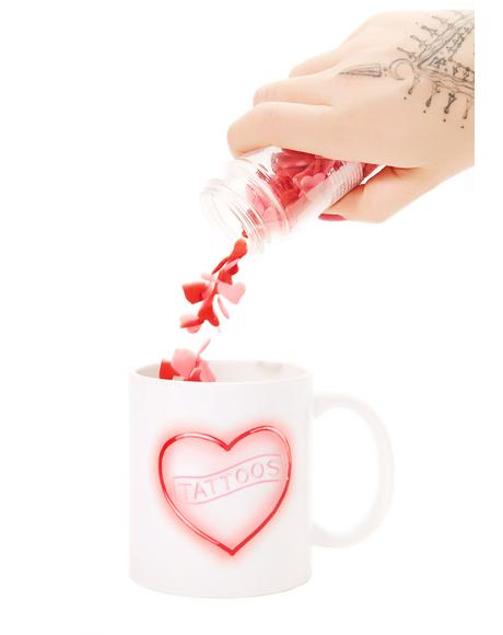 Neon Tattoo Love Mug