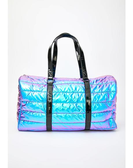 Space Bae Escapade Quilted Weekender