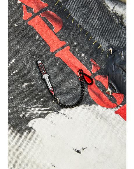 Stabby Enamel Chain Pins