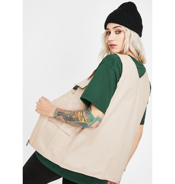 Daisy Street Utility Style Gilet Vest