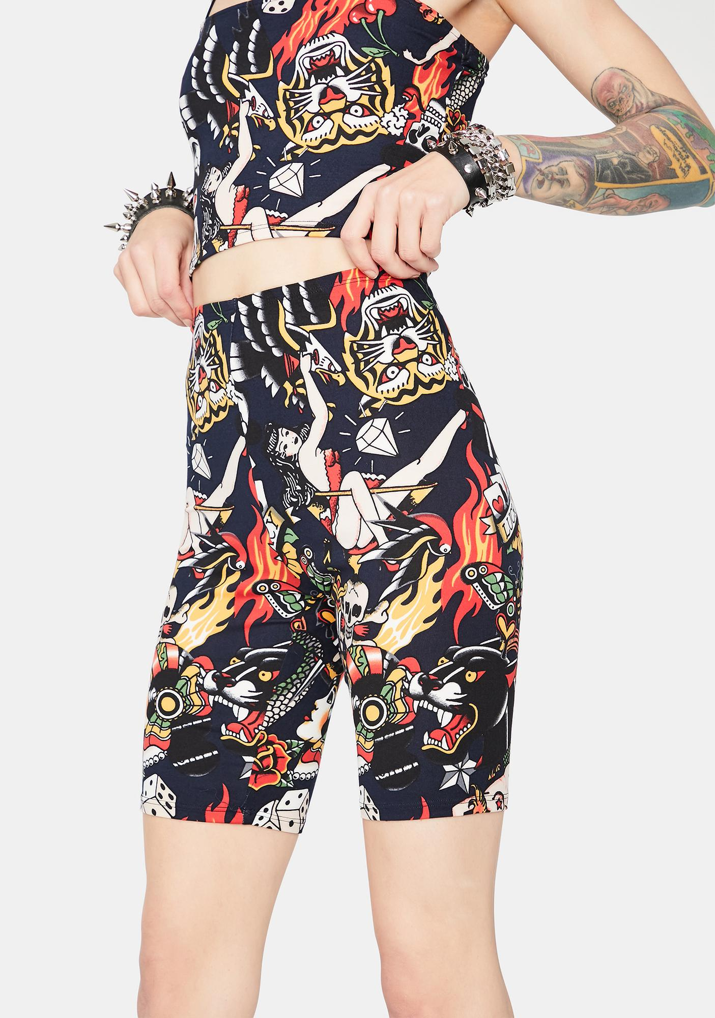 Take A Gamble Biker Shorts