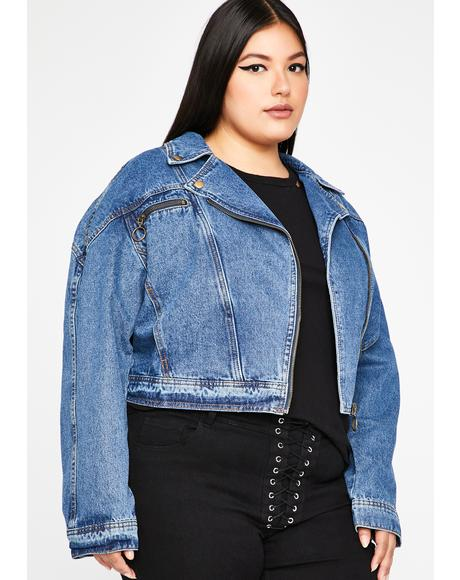 C'mon BB Let's Motor Denim Jacket