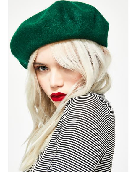 004265748 Sourpuss Clothing Fuck You Embroidered Beret | Dolls Kill