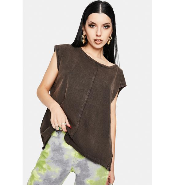 Free People Raven Feather Kasee Muscle Tee